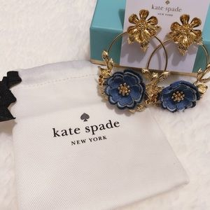 Kate Spade Floral Gold Statement Earrings